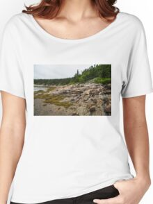 Low Tide - Walking on the Bottom of Saint Lawrence River Women's Relaxed Fit T-Shirt