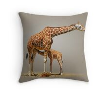 BREAKFAST - RETICULATED GIRAFFES Throw Pillow
