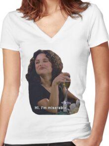 Hi. I'm Miserable.  Women's Fitted V-Neck T-Shirt