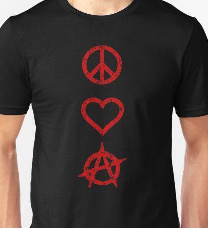 Peace. Love. Anarchy. Unisex T-Shirt