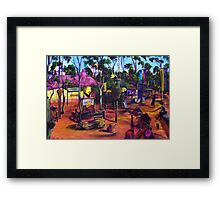 GYMPIE MUSTER - the CROWBAR Framed Print