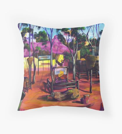 GYMPIE MUSTER - the CROWBAR Throw Pillow
