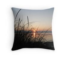 Sunset at Grassy Point - Hornby Island BC Throw Pillow