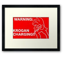 Krogan Charging Framed Print