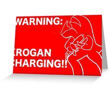 Krogan Charging Greeting Card