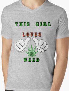 This girl loves weed Mens V-Neck T-Shirt