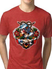Navy Pinup Tri-blend T-Shirt