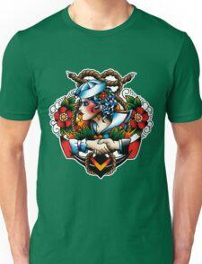 Navy Pinup Unisex T-Shirt