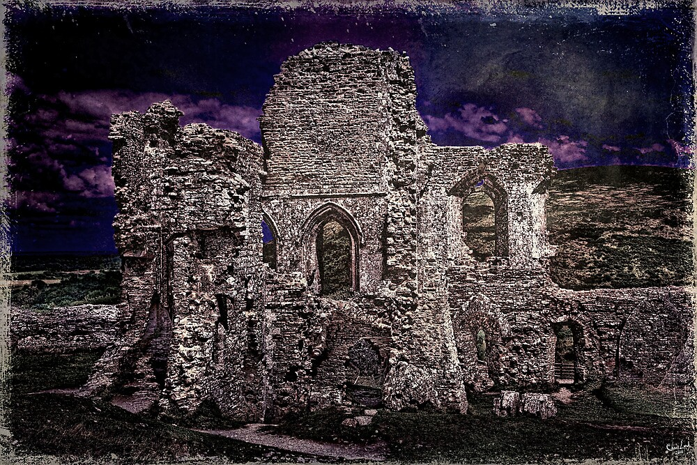 The Chapel Ruins In Moonlight by Chris Lord