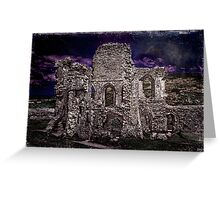 The Chapel Ruins In Moonlight Greeting Card