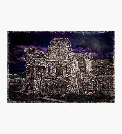 The Chapel Ruins In Moonlight Photographic Print