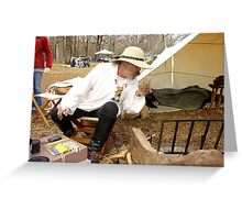 Primitive Camping Greeting Card