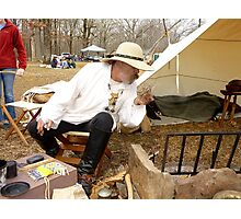 Primitive Camping Photographic Print