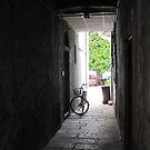 Doorway with Bike by Christine  Wilson