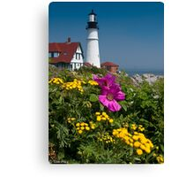 Beach Rose at Portland Head Canvas Print