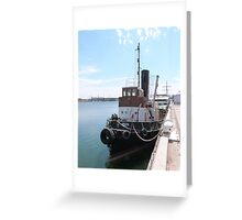 'Yelta' The Old Steam Tug, circa early 1900's. Port Adelaide. Greeting Card