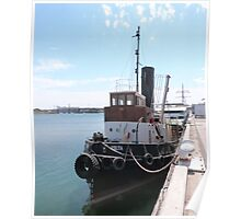 'Yelta' The Old Steam Tug, circa early 1900's. Port Adelaide. Poster