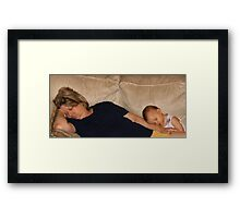 The Fine Art of Power-napping (or...When I grow up I want to be just like my Nana!) Framed Print