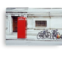 red telephone box. Canvas Print