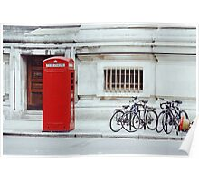 red telephone box. Poster