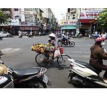 Bicycle Fruit Shop in Ho Chi Minh City Photographic Print