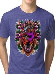 In Devil We Trust Tri-blend T-Shirt