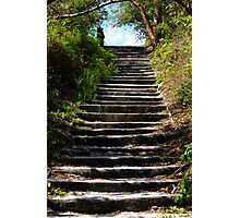 Stairway to Blue Sky Photographic Print