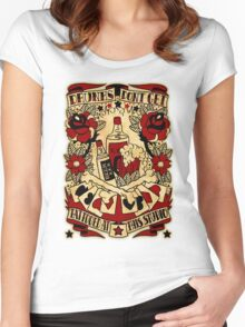 Informative Signs - Drunks don't get tattooed Women's Fitted Scoop T-Shirt