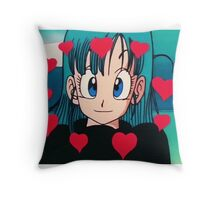 heart eye bulma Throw Pillow