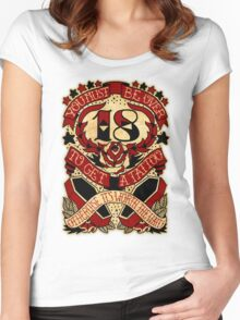 Informative Signs - Must be over 18 Women's Fitted Scoop T-Shirt