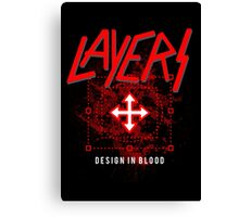 Layers - Design In Blood Canvas Print