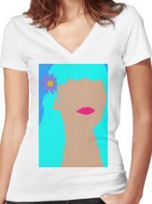 Bahamas Hair Women's Fitted V-Neck T-Shirt