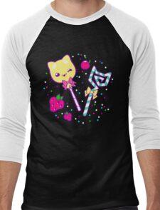 Kawaii Kitty Sprinkles Men's Baseball ¾ T-Shirt