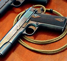 Colt 1911 classic with lanyard by mitchcornacchia