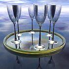 Six Glasses by Hugh Fathers