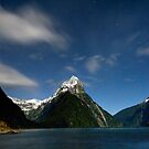 Mitre Peak Under the Stars by Michael Treloar