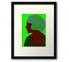 Emerald Flapper Framed Print