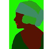 Emerald Flapper Photographic Print