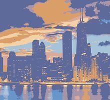 Chicago skyline by Vectorworld