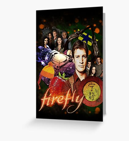 Firefly Cast Collage Greeting Card