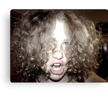 Curly Haired Monster Canvas Print