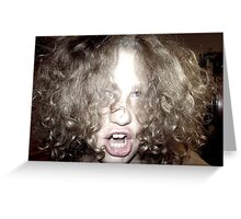 Curly Haired Monster Greeting Card