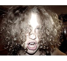 Curly Haired Monster Photographic Print
