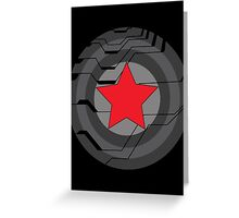 Winter Soldier Shield Greeting Card