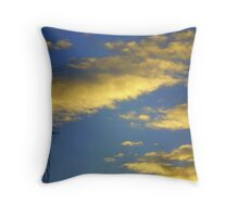 cotton clouds & sapphire skies. ii Throw Pillow
