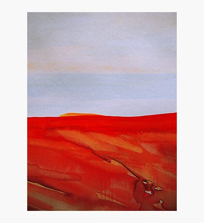 red land.....ocean view Photographic Print