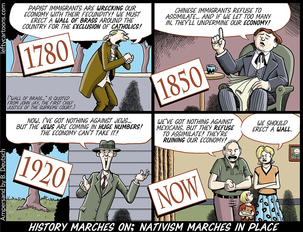 History Marches On; Nativism Marches In Place by Barry Deutsch
