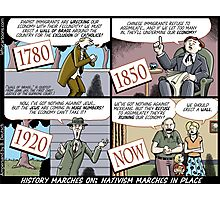 History Marches On; Nativism Marches In Place Photographic Print
