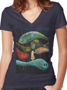 My Fascinating Friends Women's Fitted V-Neck T-Shirt