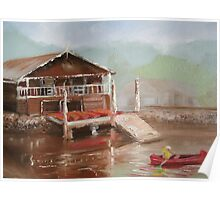 Star boatshed - Canoeing on the Woronora river Poster